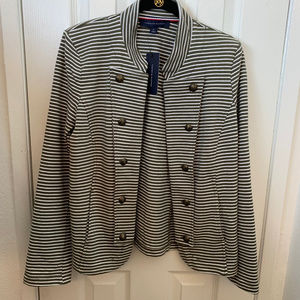 NWT Tommy Hilfiger Green & White Stripe Jacket. M